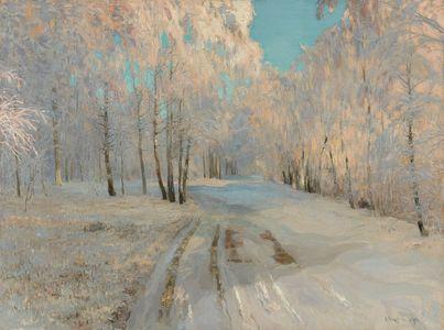 Сочинение по картине В.Н. Бакшеева «Иней»