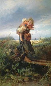Сочинение по картине К. Е. Маковского «Дети, бегущие от грозы»