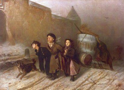 Сочинение по картине Перова «Тройка»