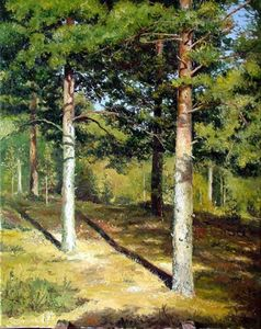 Сочинение по картине Шишкина «Сосны, освещенные солнцем»