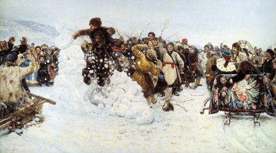 Сочинение по картине В.И. Сурикова «Взятие снежного городка»