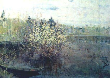 Сочинение по картине Н.М. Ромадина «Вербы в половодье»