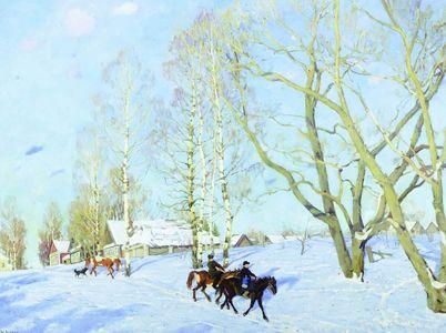 Сочинение по картине К.Ф. Юона «Мартовское солнце»