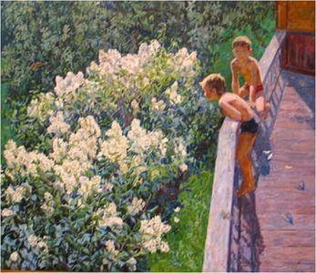 Сочинение по картине М.К. Копытцевой «Летний день. Цветет сирень»