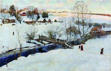 Сочинение по картине К.Ф. Юона «Волшебница-зима»