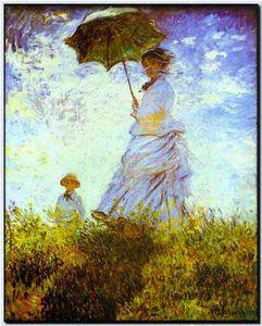 Сочинение по картине Клода Моне «Прогулка. Дама с зонтиком»