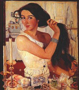 Сочинение по картине З.Е. Серебряковой «За туалетом»