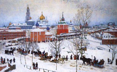 Сочинение по картине К.Ф. Юона «Зима. Ростов Великий»