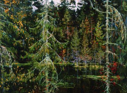 Сочинение по картине Н.М. Ромадина «Лесное озеро»