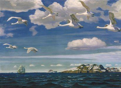 Сочинение по картине А.А. Рылова «В голубом просторе»
