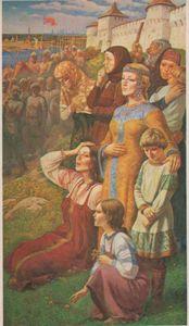 Сочинение по картине Ю.М. Ракши «Проводы ополчения»