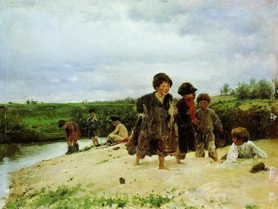 Сочинение по картине В.Е. Маковского «От дождя»