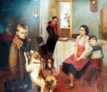Сочинение по картине Ф.П. Решетникова «Опять двойка»