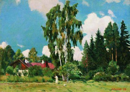 Сочинение по картине А.А. Рылова «Домик с красной крышей»