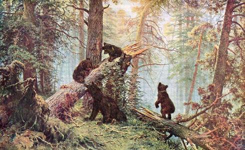 Сочинение по картине И.И. Шишкина «Утро в сосновом лесу»