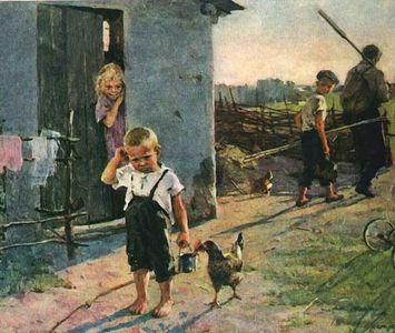 Сочинение по картине О.В. Поповича «Не взяли на рыбалку»