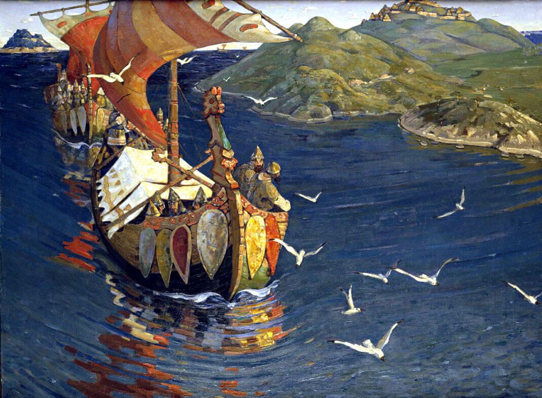Сочинение по картине Н.К. Рериха «Заморские гости»