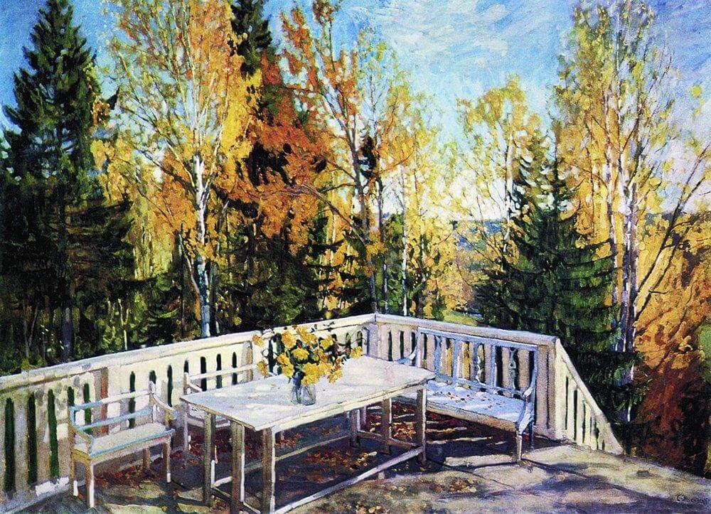 Сочинение по картине С.Ю. Жуковского «Осень. Веранда»