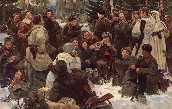 Сочинение по картине Ю.М. Непринцева «Отдых после боя»