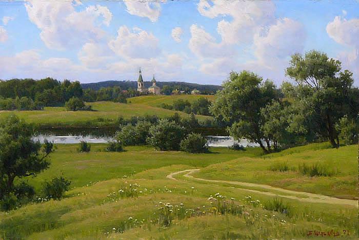 Сочинение по картине Б.В. Щербакова «Русь подмосковная»