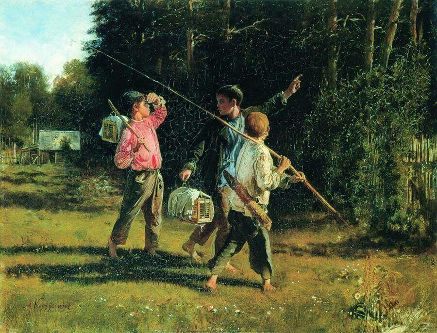 Сочинение по картине А.И. Корзухина «Птичьи враги»
