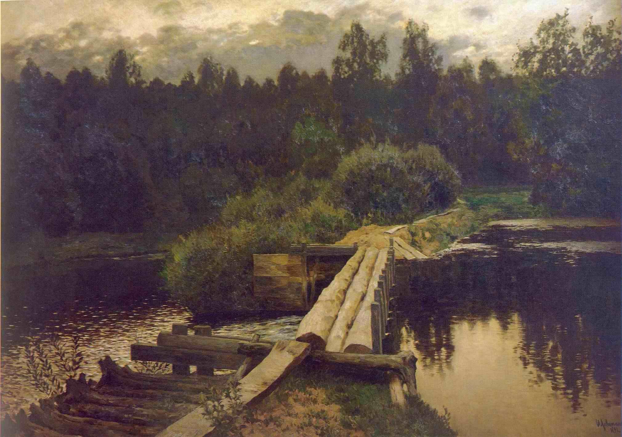 Сочинение по картине И.И. Левитана «У омута»