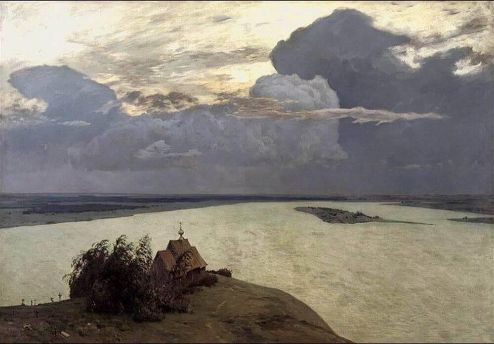 Сочинение по картине И.И. Левитана «Над вечным покоем»