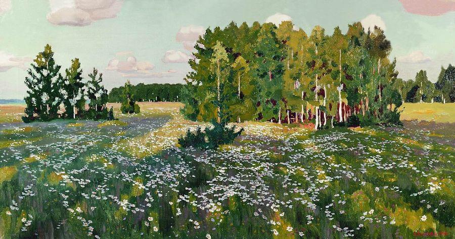 Сочинение по картине А.А. Рылова «Цветистый луг»