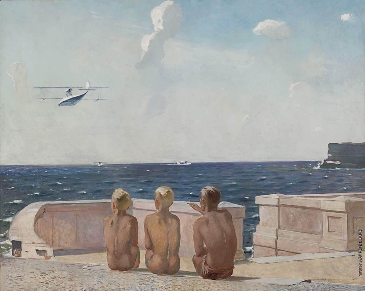 Сочинение по картине А.А. Дейнека «Будущие летчики»