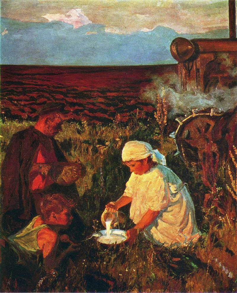 Сочинение по картине А.А. Пластова «Ужин трактористов»