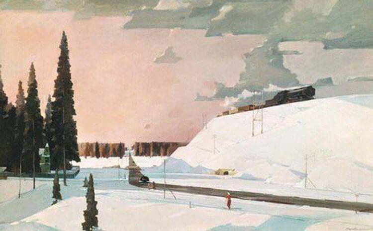 Сочинение по картине Г.Г. Нисского «Февраль. Подмосковье»