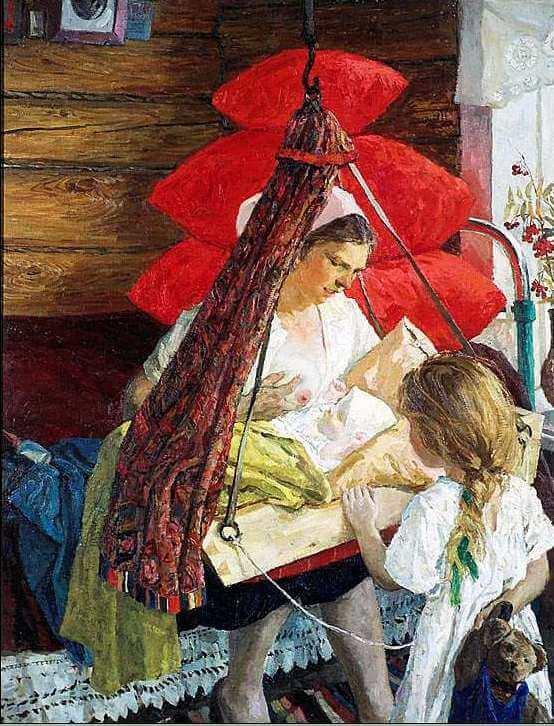 Сочинение по картине А.А. Пластова «Мама»