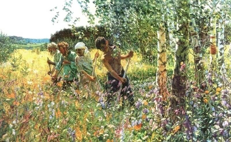 Сочинение по картине А.А. Пластова «Сенокос»